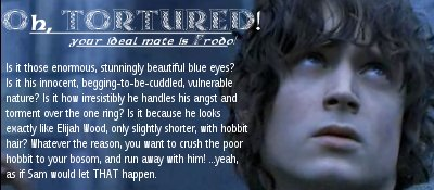 your ideal mate is Frodo!